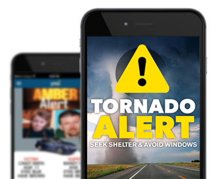 Tornado Infographic Alert Message